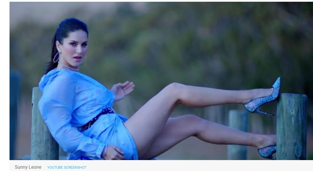 Sunny Leone falls face down on set, video goes viral