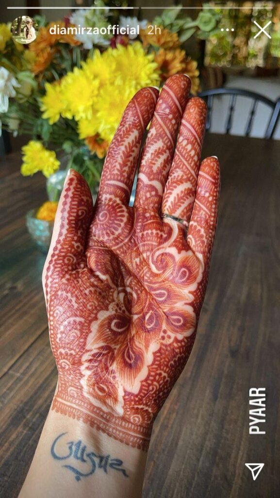 Diya Mirza's Mehndi Ceremony, pictures surfaced