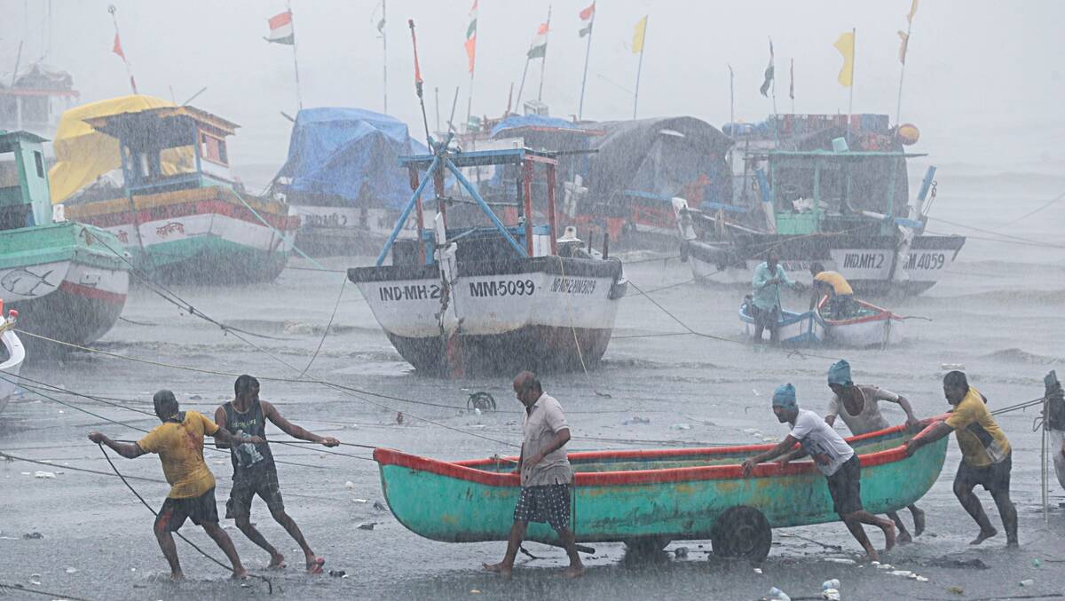 The impact of the storm in Rajkot